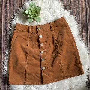 YMI Jeans Y2K Corduroy Button Down Mini Skirt 28